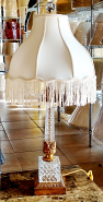 "Antique Crystal Lamp Mid Century 27""H SOLD"