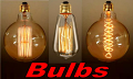 Antique Vintage Edison Light Bulb 3 Sizes