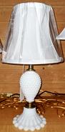 """Small Hobnail Lamp 16""""H"""
