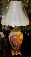 "Antique Hurricane Lamp Vintage 1930 35""H SOLD"