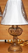 "Vintage Oil Lamp Electrified 17""H"