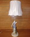 """Vintage Roman Lady Figurine Lamp 27""""H"""