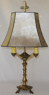 "Art Deco Desk Lamp Mica Shade 24""H SOLD"