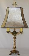 "Art Deco Desk Lamp Mica Shade 24""H SOLD"