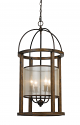 "Bronze Iron Wood Sheer Chandelier 16""Wx33""H"