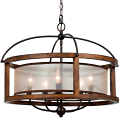 "Bronze Iron Wood Sheer Chandelier 26""Wx21""H"
