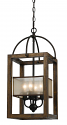 "Iron Wood Chandelier 4 Lights 11""Wx24""H"