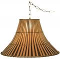 "Bamboo Swag Lamp 16-20""W"