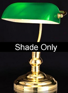 Green Bankers Lamp Glass Shade