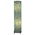 "Banyan Leaf Floor Lamp 36""Hx8""W #483L-Sea Blue"