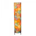 "Banyan Leaf Floor Lamp 36""Hx8""W #483L-Multi Color"