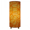 "Banyan Leaf Table Lamp 17""Hx7""W #483T-Orange"