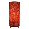 "Banyan Leaf Table Lamp 17""Hx7""W #483T-Red"