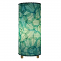 "Banyan Leaf Table Lamp 17""Hx7""W #483T-Sea Blue"