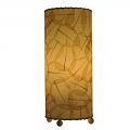 "Banyan Leaf Table Lamp 17""Hx7""W #483T-Natural"