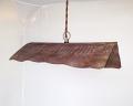 "Barn Roof Swag Lamp Pendant Light 13""Wx3""H"