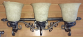 "Aged Silver Bathroom Vanity Wall Lamp 23""W - Sale !"