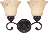"Anastasia ORB Bronze Marble Glass Wall Light 15""Wx10""H"