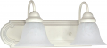 "Ballerina Textured White Sconce Light Alabaster Glass 18""Wx8""H"