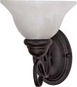 """Castillo Flat Black Sconce Light Alabaster Glass 7""""Wx9""""H"""