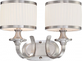 "Candice Brushed Nickel Drum Shade Wall Light 16""Wx11""H"