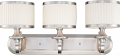 "Candice Brushed Nickel Drum Shade Wall Light 24""Wx11""H"