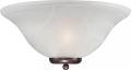 "Ballerina Old Bronze Bathroom Light Alabaster Glass 16""Wx7""H"