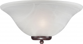 "Ballerina Old Bronze Bathroom Light Alabaster Glass 16""Wx7""H"