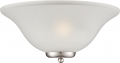 "Ballerina Brushed Nickel Sconce Light Frosted Glass 16""Wx7""H"
