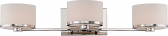 """Celine Polished Nickel Glass Drum Wall Light 26""""Wx5""""H"""
