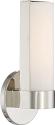 """Bond LED Polished Nickel White Acrylic Sconce Light 6""""Wx9""""H"""
