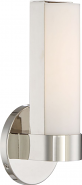 "Bond LED Polished Nickel White Acrylic Sconce Light 6""Wx9""H"