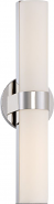 "Bond LED Polished Nickel White Acrylic Sconce Light 6""Wx17""H"