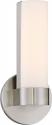 """Bond LED Brushed Nickel White Acrylic Sconce Light 6""""Wx9""""H"""
