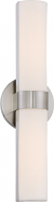 "Bond LED Brushed Nickel White Acrylic Sconce Light 6""Wx17""H"