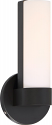 """Bond LED Aged Bronze White Acrylic Sconce Light 6""""Wx9""""H"""