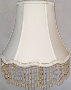 "Beaded Lamp Shade 10-18""W"