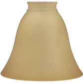 "Beige Glass Shade for Bridge Arm Lamps 2.25"" Fitter"