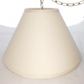 "Cream Linen Swag lamp 16-18""W"