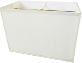 "Belgian Linen Rectangle Lamp Shade Cream, Tan 12-16""W"