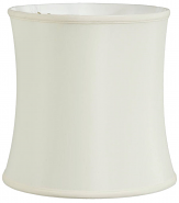 "Bell Silk Drum Lamp Shade Cream, Tan 14-18""W"