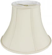 "Bell Silk Lamp Shade Cream, White, Black, Beige 8-20""W"