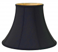 "Black Bell Silk Lamp Shade 8-20""W"