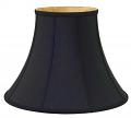 "Black Bell Silk Lamp Shade 8-20""W"