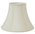 "Bell Silk Lamp Shade Cream, White, Black, Beige 8-20""W"