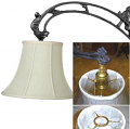 "Bell Silk UNO Lamp Shade Cream, White 10-12""W"