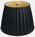 "Black English Pleated Lamp Shade 14-20""W"