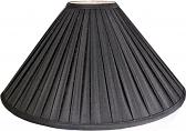 "Black Pleated Silk Coolie Lamp Shade 20""W - Sale !"
