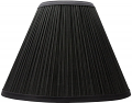 "Black Pleated Lamp Shade 18""W"