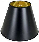 "Empire Tapered Black Paper Lamp Shade 8-20""W"